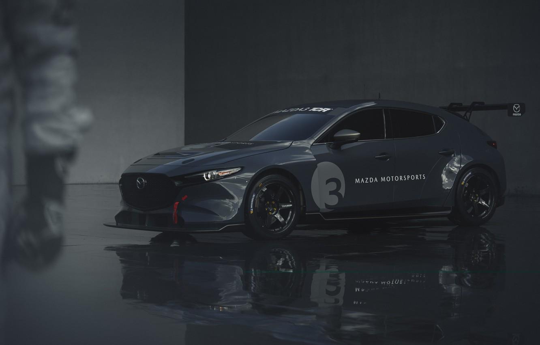 Photo wallpaper Mazda, Mazda 3, 2020, TCR