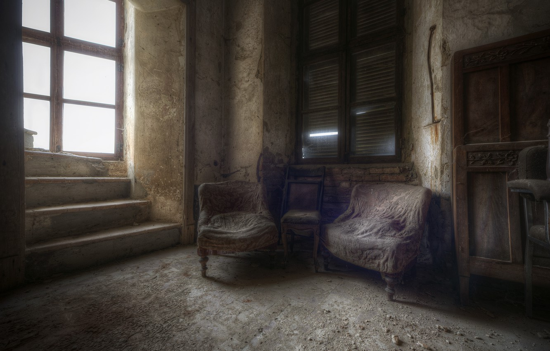 Photo wallpaper room, chair, window
