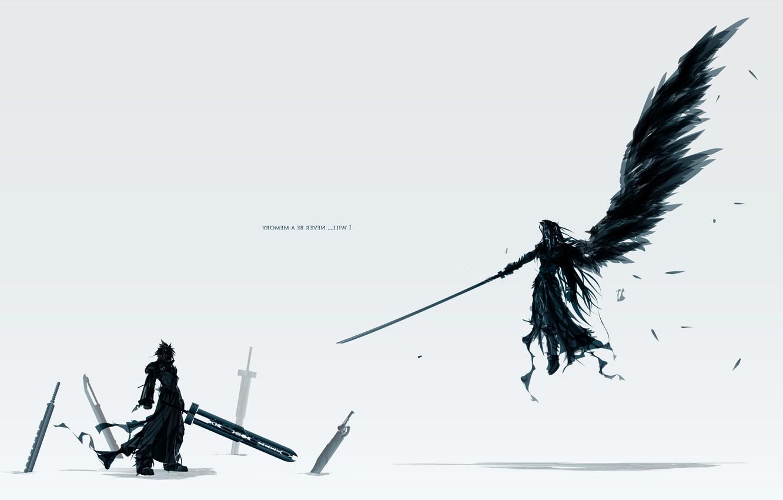 Photo wallpaper sword, Final Fantasy, wings