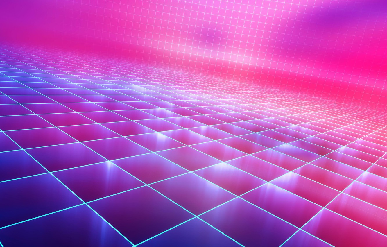 Wallpaper Music, Background, 80s, Neon, Synth, Retrowave, Synthwave
