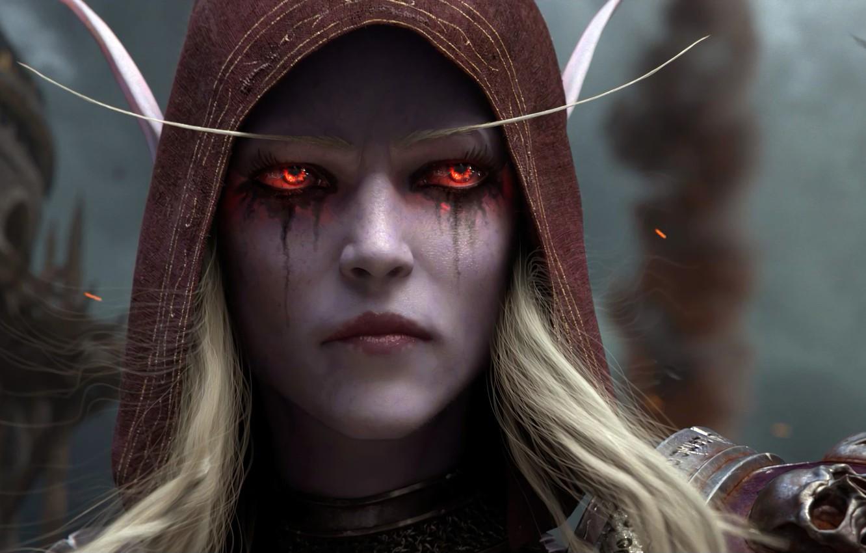 Photo wallpaper Blizzard Entertainment, Sylvanas Windrunner, World Of Warcraft, Sylvanas Windrunner, The battle for Azeroth, Lady Banshee