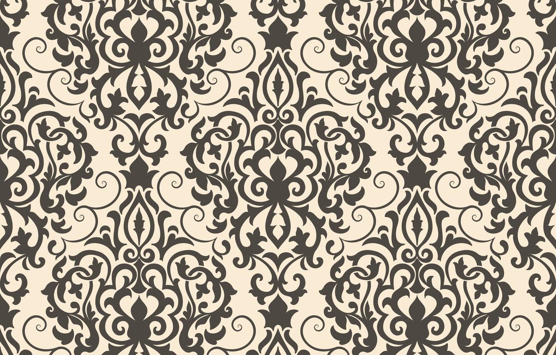 Photo wallpaper black, ornament, style, vintage, ornament, seamless, victorian