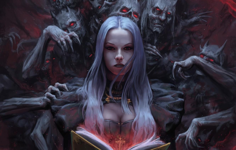 Photo wallpaper the demon, fantasy, art, fragment, Stefan Koidl, The Demon Book