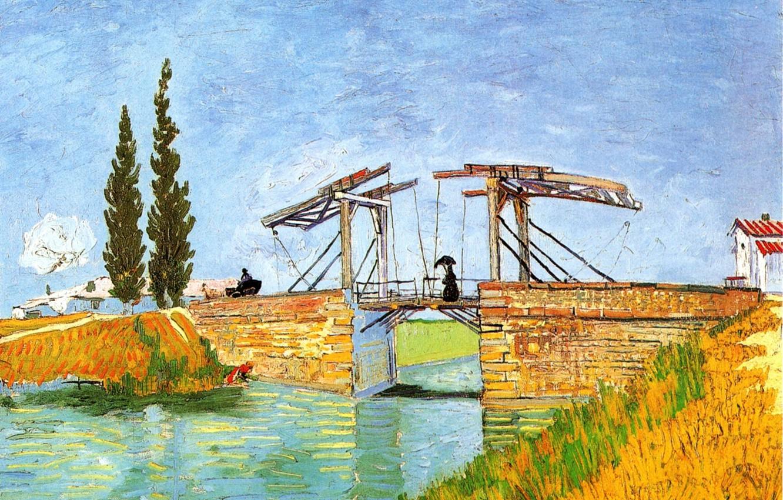 Photo wallpaper Vincent van Gogh, Bridge at Arles 2, The Langlois