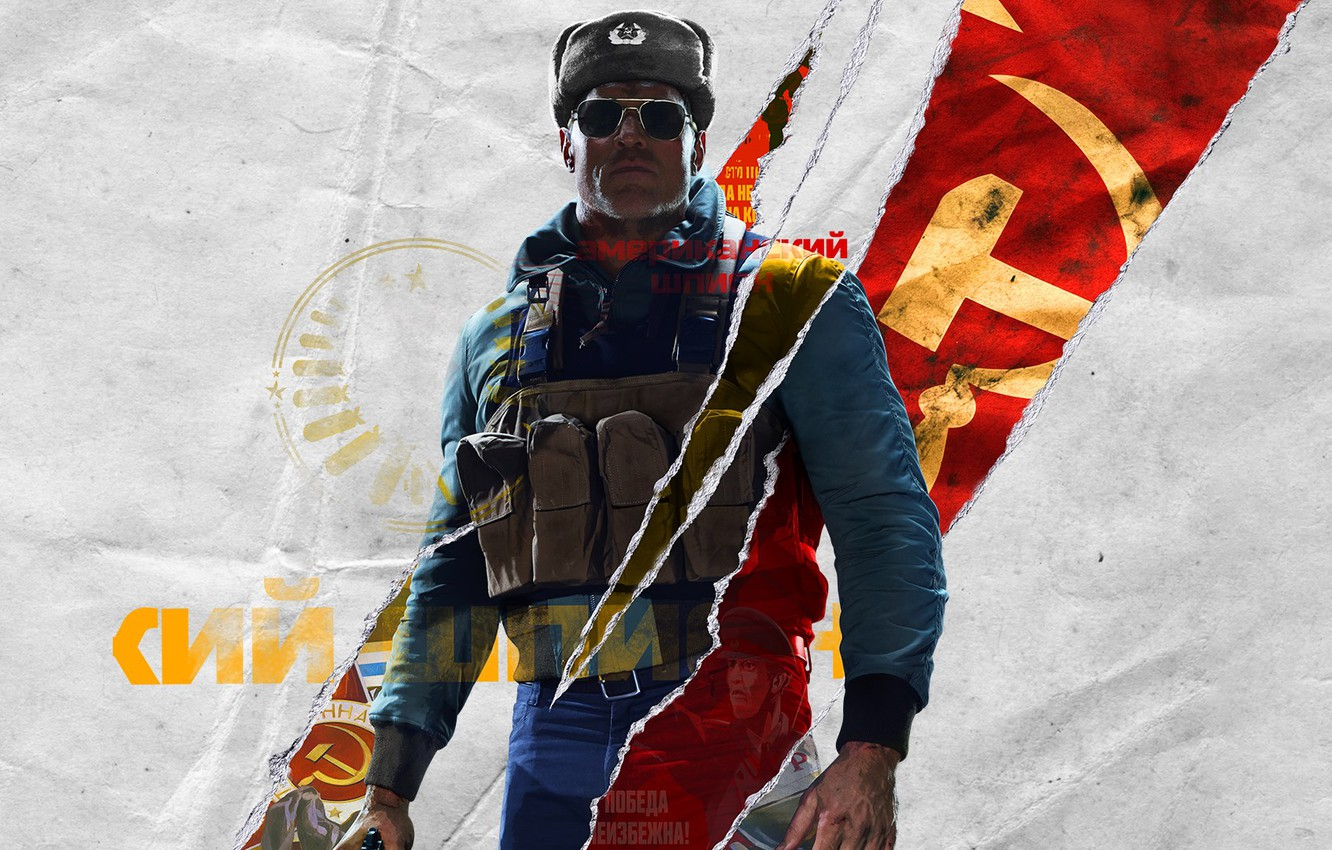 Photo wallpaper Look, Glasses, Hat, The inscription, Soldiers, Call of Duty, Jacket, Black Ops, Activision, Treyarch, USSR, …