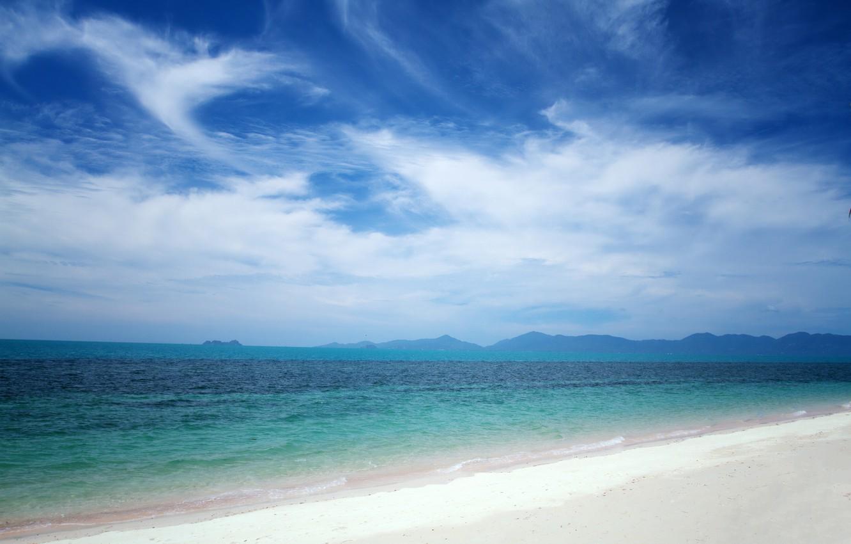 Photo wallpaper sand, sea, wave, beach, summer, summer, beach, sea, blue, seascape, sand, wave