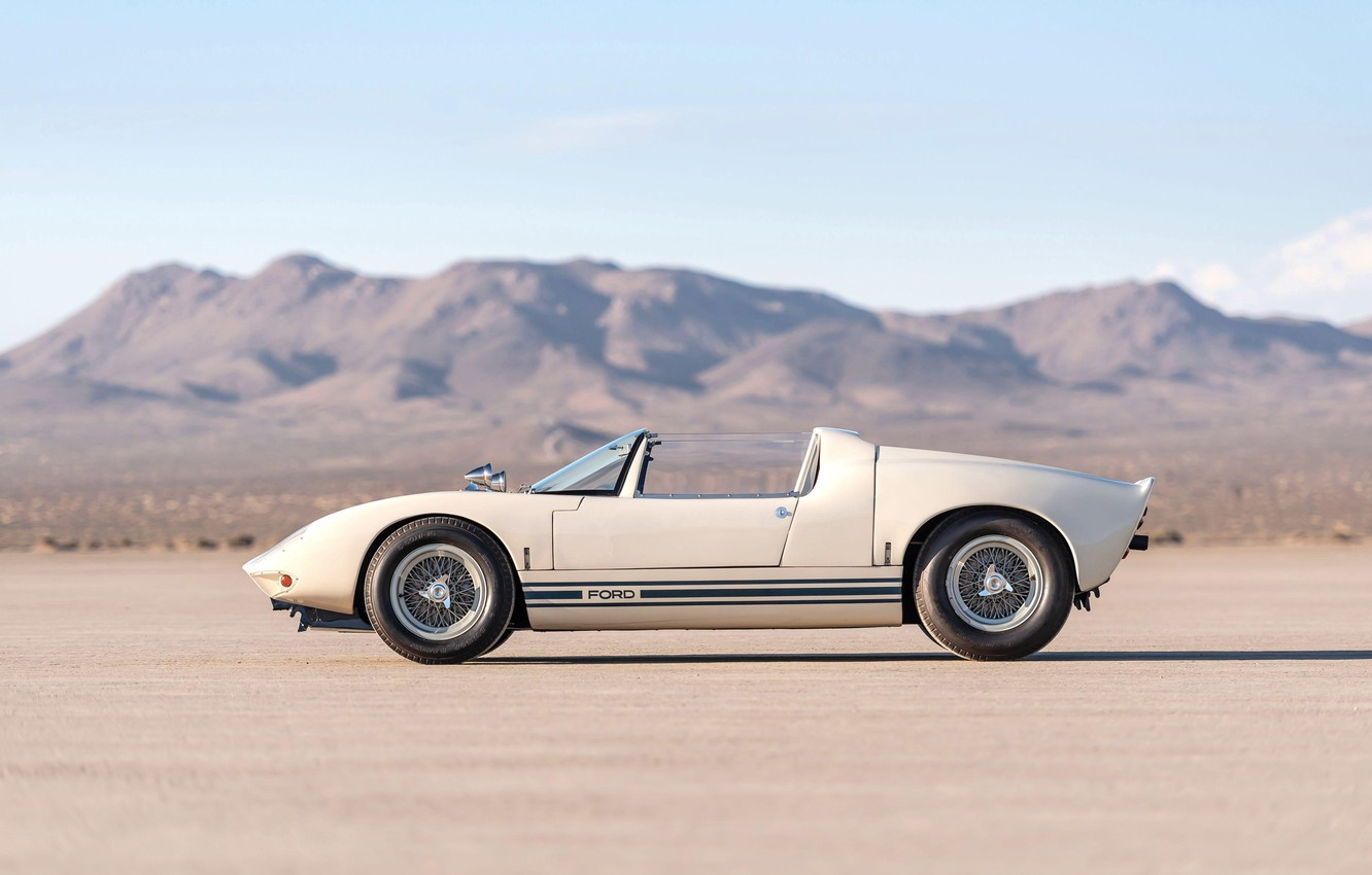 Photo wallpaper Roadster, side view, 1965, Ford GT40, Prototype (GT108)
