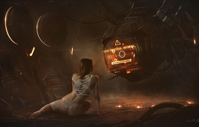 Photo wallpaper Vladimir Manyukhin, Dark metal II, Sciencefiction