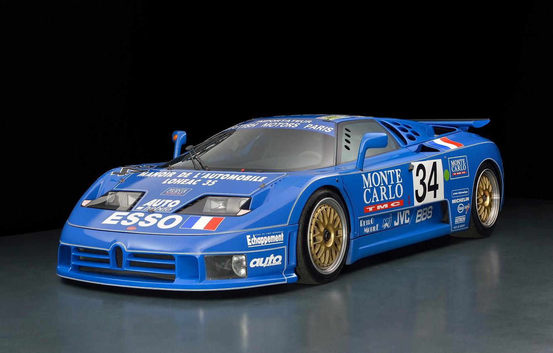 Photo wallpaper Supercar, LeMans, 1994, Autosport, Bugatti EB110 SS LM