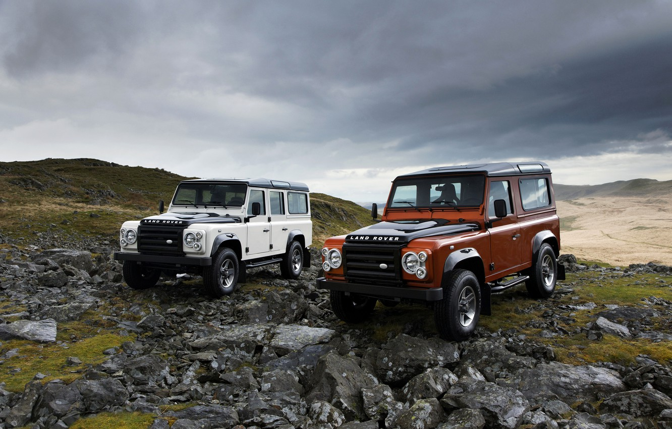 Photo wallpaper hills, Land Rover, 2009, Defender, Limited Edition