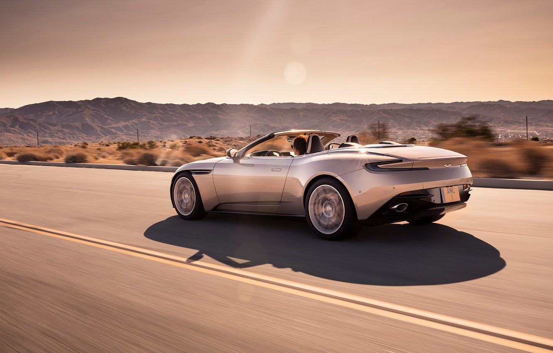 Photo wallpaper Aston Martin, speed, rear view, 2018, Volante, DB11