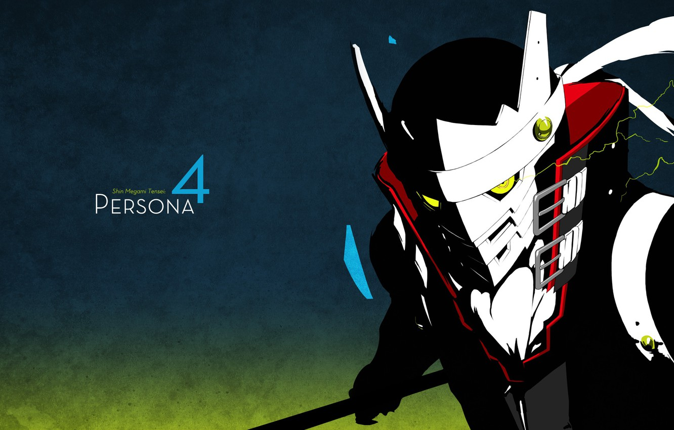 Photo wallpaper the game, anime, mask, art, Person 4, person