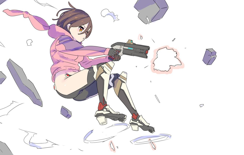 Photo wallpaper Girl, Anime, Art