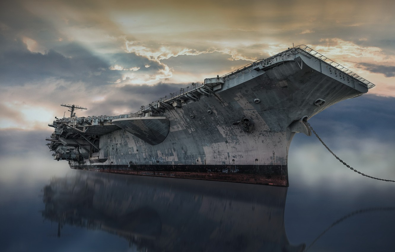 Photo wallpaper weapons, ship, USS John F Kennedy