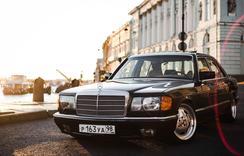 Photo wallpaper sedan, Sheikh, w126, W126, 560 sel, 560SEL, Mercedec - Benz