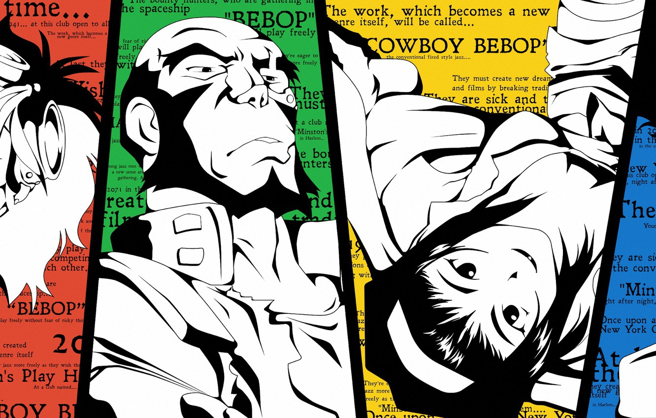 Wallpaper Collage Art Characters Cowboy Bebop Images For