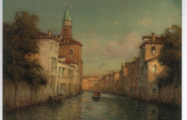 Photo wallpaper boat, BOUVARD, VENETIAN BACKWATERS, water street