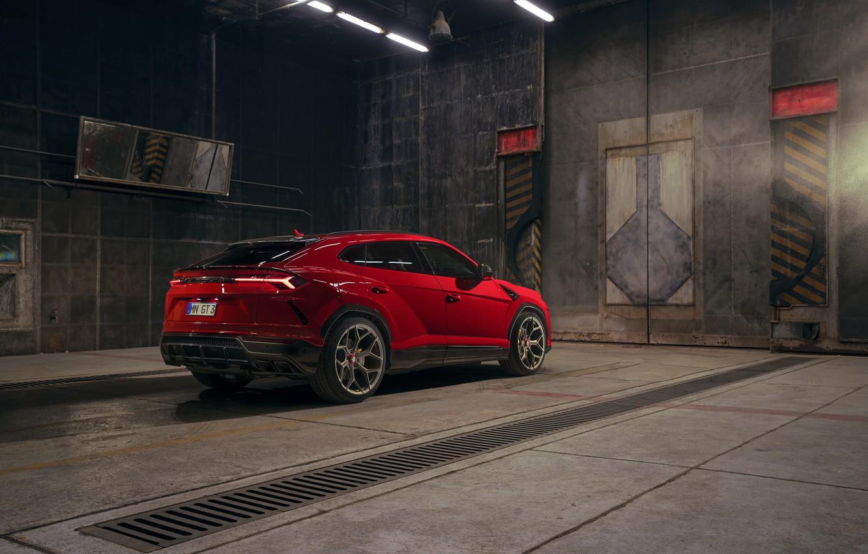 Photo wallpaper Lamborghini, crossover, Urus, Novitec, 2019