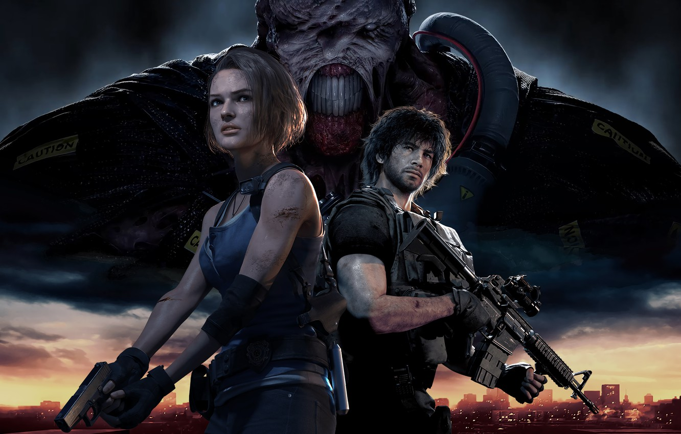 Photo wallpaper characters, Resident Evil, Resident Evil 3, Resident Evil 3 (2020)