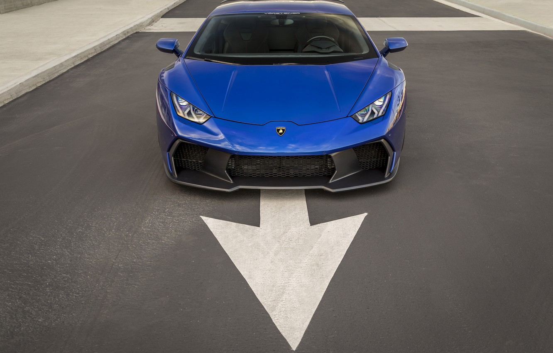 Photo wallpaper Lamborghini, Blue, Arrow, VAG, Huracan, Novara