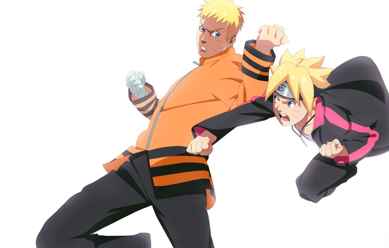 Photo wallpaper father, Naruto, son, Uzumaki Naruto, Boruto, Boruto Uzumaki