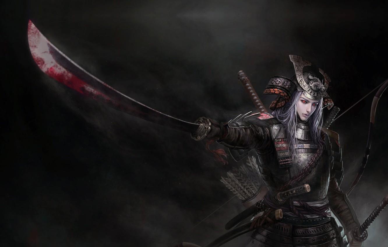 Photo wallpaper warrior, fantasy, art, tian zi