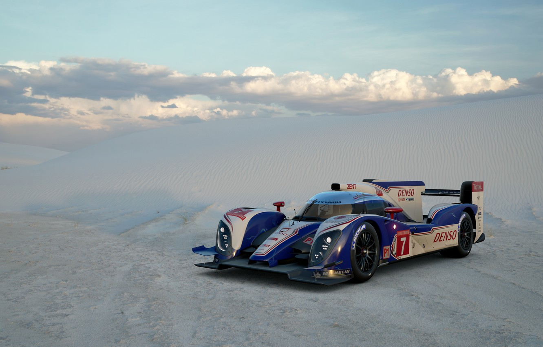 Photo wallpaper Sand, Desert, Toyota, Car, Gran Turismo Sport, TS030 Hybrid '12