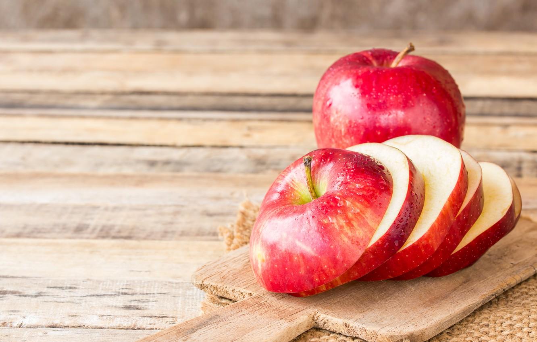 Photo wallpaper apple, fruit, cut