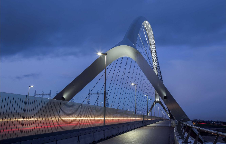 Photo wallpaper bridge, Netherlands, Holland, Nijmegen