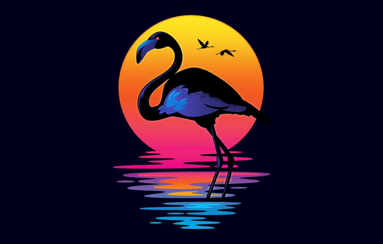 Wallpaper The Sun Color Minimalism Music Bird Retro