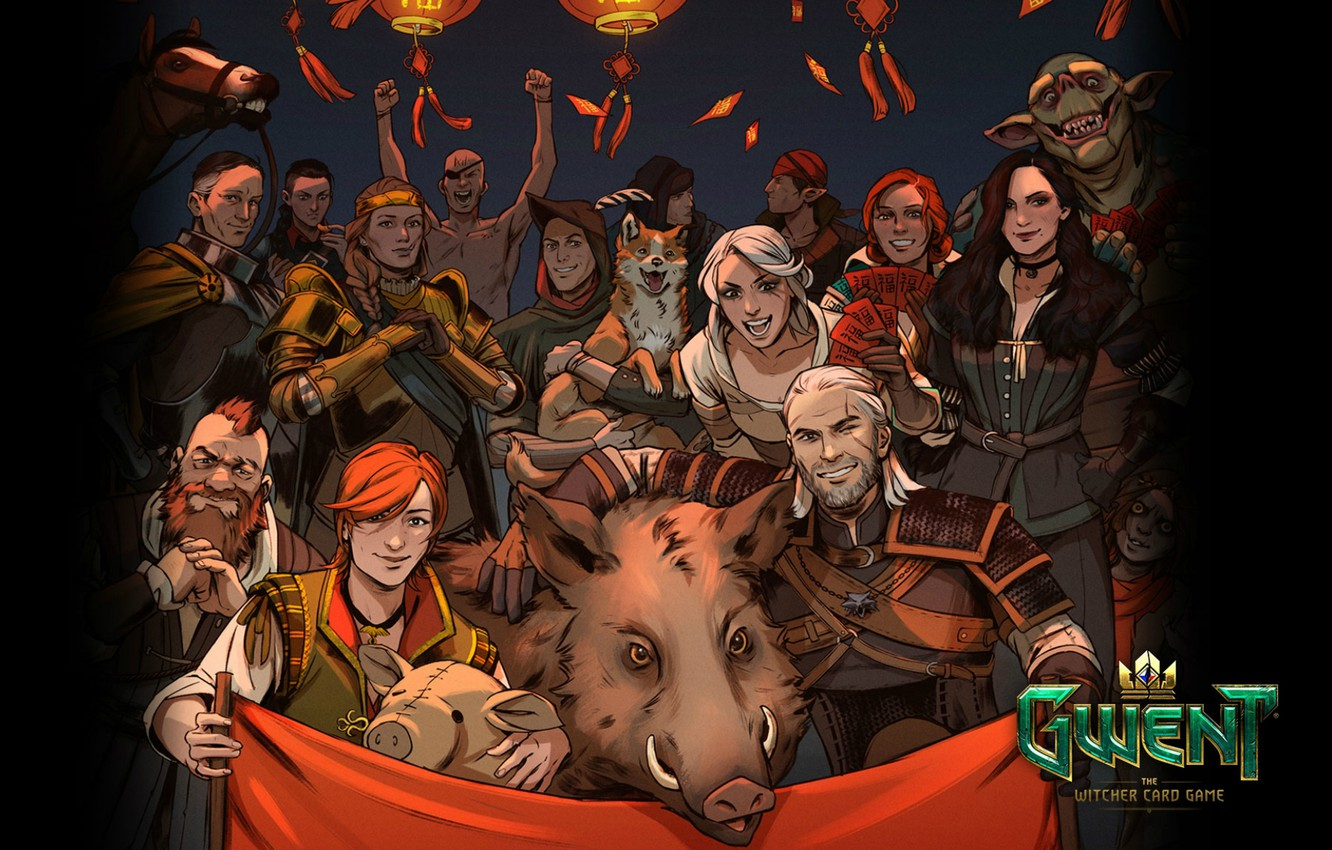 Photo wallpaper card, the witcher, the Witcher, characters, Geralt, Zoltan, CDProjekt RED, CRIS, Yennifer, Triss, Shani, Gwent, …