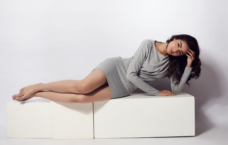 Wallpaper girl, sexy, legs, eyes, smile