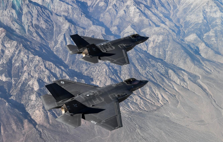 Photo wallpaper Fighter, US NAVY, F-35C Lightning II