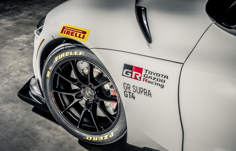 Photo wallpaper Disk, Wheel, Toyota, Supra, 2020, Toyota GR Supra GT4, Supra GT4