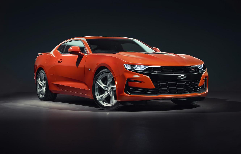 Photo wallpaper Chevrolet, Orange, Camaro, 2SS