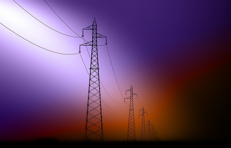 Photo wallpaper color, form, power lines