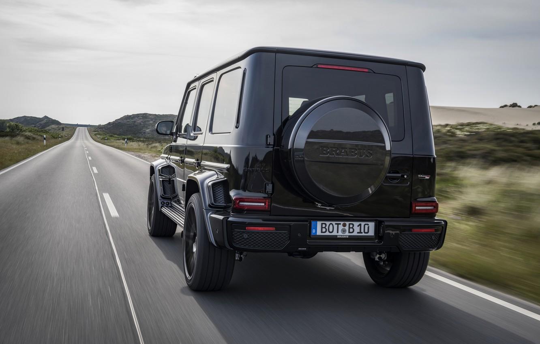 Photo wallpaper black, Mercedes-Benz, SUV, back, Brabus, AMG, G-Class, G63, G 63, 2019, W464, Black Ops 800