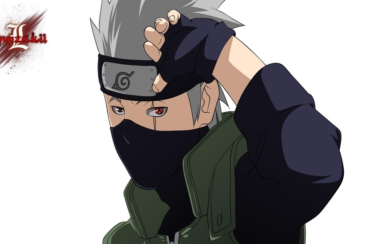 Photo wallpaper mask, Naruto, Naruto, Sharingan, Kakashi Hatake