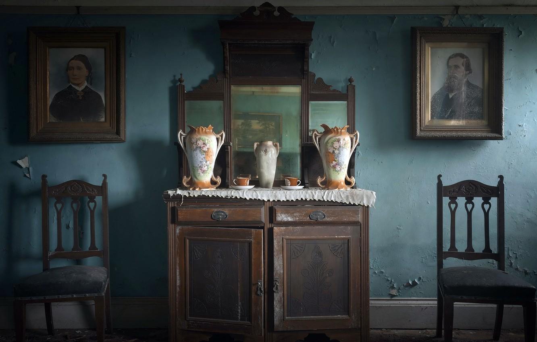 Photo wallpaper room, chairs, naturalism