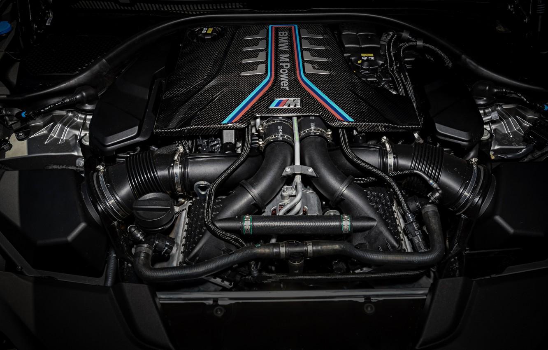 Photo wallpaper engine, BMW, motor, 2018, Biturbo, 625 HP, M5, V8, F90, 4.4 L., M5 Competition