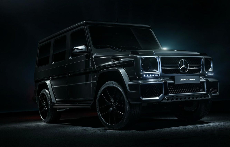 Photo wallpaper Mercedes, AMG, Black, G63, G Class, WHELLS, 4X4, Black style