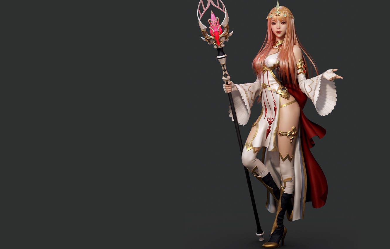 Photo wallpaper rendering, the game, art, costume design, Shin JeongHo, Valkyrie Connect - Lady Freya