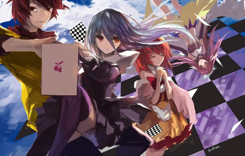 Wallpaper Anime Art Two No Game No Life Characters No Game No