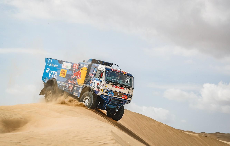 Photo wallpaper Sand, Auto, Sport, Machine, Truck, Master, Russia, Kamaz, Rally, Dakar, KAMAZ-master, Dakar, Rally, KAMAZ, The …