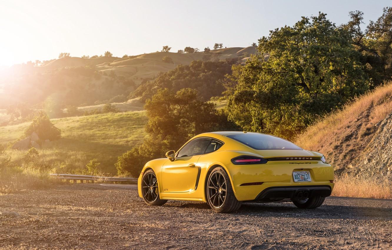 Photo wallpaper Porsche, Cayman, rear view, GTS, 718, 2019