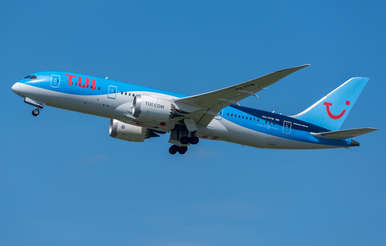 Photo wallpaper Boeing, 787-8, TUI Airlines
