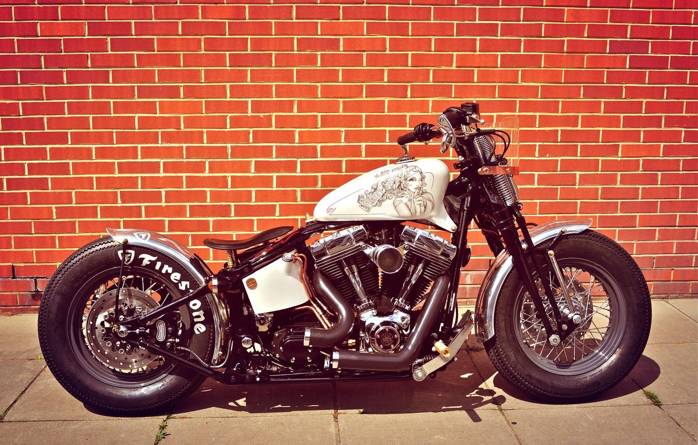Photo wallpaper Harley-Davidson, Custom, Motorbike, Bobber