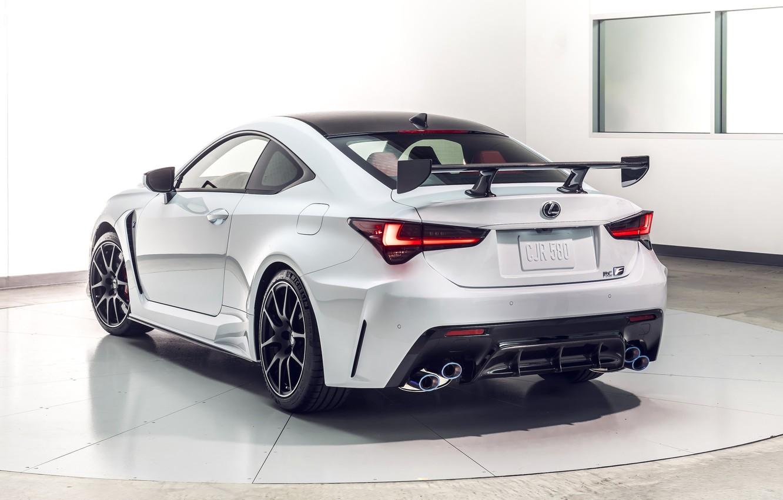 Photo wallpaper Lexus, rear view, Track Edition, RC F, 2019