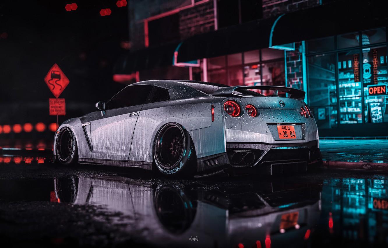 Photo wallpaper Nissan, game, nfs, gtr, gtr 35