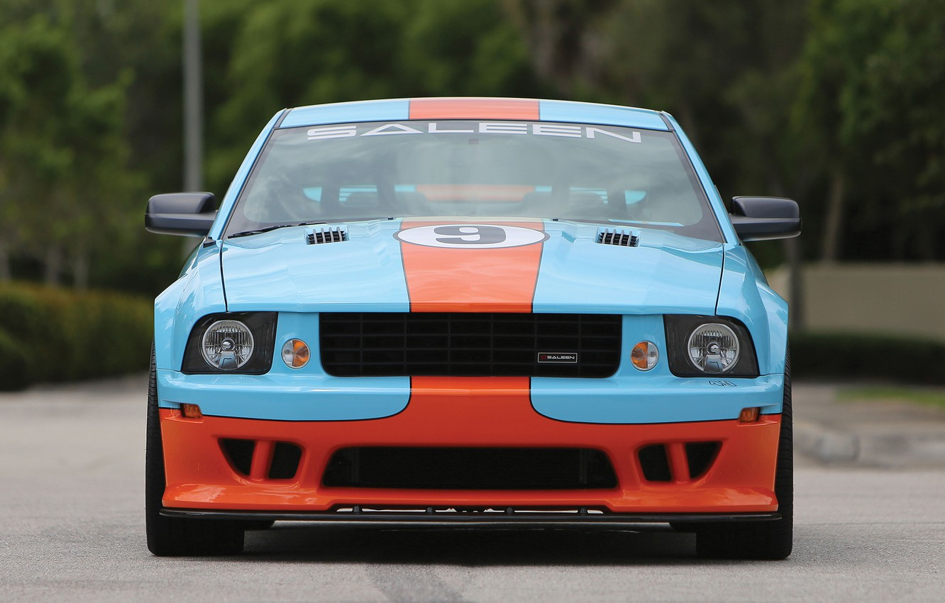 Photo wallpaper Mustang, Ford, Saleen, front view, Coupe, 2007, Extreme, S281